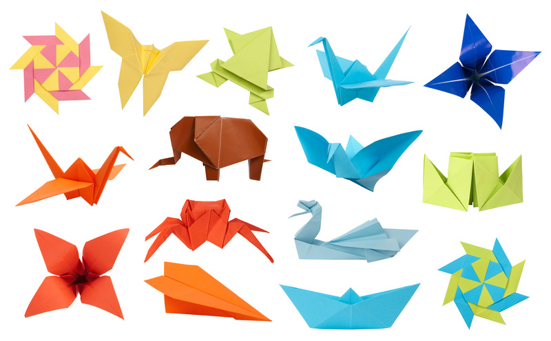 Some examples of origami creations.